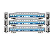 модель Athearn ATH25967 Bombardier Coach. Принадлежность AMTL. 3 шт.