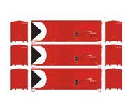 модель Athearn ATH67483 40' Modernized Box. Принадлежность E&N ex CP. 3 шт.