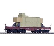 модель Athearn ATH92241 Восьмиосная платформа для перевозки тяжеловесных грузов, с грузом, принадлежность CR #770063