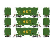 модель Athearn ATH93992  Крытый хоппер вагон ACF 2970. Принадлежность MKT 3 шт.