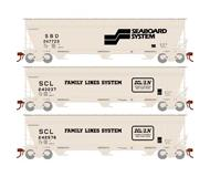 модель Athearn ATHG15836 ACF 4600 3-Bay Centerflow Hopper. Принадлежность SCL/SBD. 3 шт.