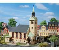 модель Auhagen 12229 Церковь Bornichen. Модель подходит для масштабов H0 и TT.
