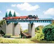 модель Auhagen 13325 Однопутный радиусный мост, L 450мм,R 396мм.