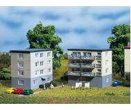 модель Auhagen 14464 2 Блочных, жилых дома. 75х52х93 мм,75х52х75 мм.