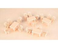модель Auhagen 41607 Деревянные столы и стулья
