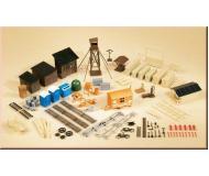 модель Auhagen 42652 Набор строительных аксессуаров и хозяйственных построек. Модель подходит для масштабов H0 и TT.