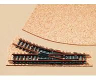 модель Auhagen 44581 Балласт под стрелки, пробка. 1 лист, 200x300x3мм. (на две стрелки)