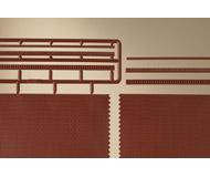 модель Auhagen 44630 Кирпичная стена с 3 различными вариантами фриза зуба и соответственно отделками, 114x35 мм. 4 шт.
