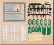 модель Auhagen 48551 Набор дверей, ворот, оконных рам и т. д. для оформления строений.