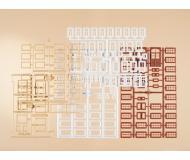 модель Auhagen 48647 Набор рам для дверей 19х37 мм,оконных рам 9х16 мм,10х18 мм, 4х6 мм.для оформления строений.