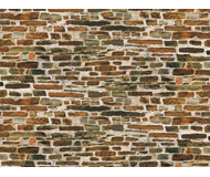 модель Auhagen 50115 Известняковая стена, лист бумага 22х10см, 5 шт.