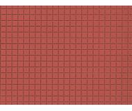 модель Auhagen 52222 Плитка, красная, пластик 100х200мм. 2 шт.