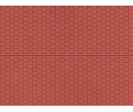 модель Auhagen 52224 Плитка тротуарная, красная, пластик 100х200мм. 2 шт.