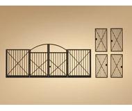 модель Auhagen 80208 Модульная система. Набор ворота и калитки, 1шт. -87x34 мм,  4шт. -12x24 мм.