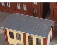 модель Auhagen 80306 Железная крыша с водосточными желобами и сливными трубами, 143x63 мм.
