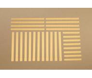 модель Auhagen 80403 Модульная система. Набор столбы и кирпичные бордюры: 12шт. -6x83 мм,  8шт. -50x5 мм,  8шт. -97x5 мм. Жёлтые