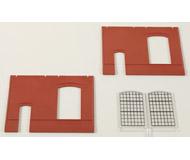 модель Auhagen 80502 Модульная система. Набор стены 2325B с индустриальными окнами: 2шт. -94x86 мм. Красные
