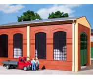 модель Auhagen 80504 Модульная система. Набор стены 2326B с индустриальными окнами: 2шт. -94x86 мм. Красные