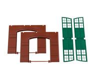 модель Auhagen 80505 Модульная система. Набор стены 2326A с воротами: 2шт. -94x86 мм. Красные