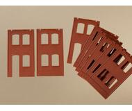 модель Auhagen 80506 Модульная система. Набор стены 2323A (2 шт.) и 2323B (6 шт. 46x86 мм. Красные