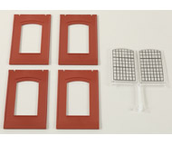 модель Auhagen 80509 Модульная система. Набор индустриальные окна 2342N, 4шт. -46x86 мм. Красные