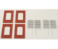 модель Auhagen 80510 Модульная система. Набор индустриальные окна 2342J, 4шт. -46x86 мм. Красные
