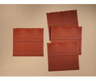 модель Auhagen 80513 Модульная система. Набор стены 2324E (4 шт.) 94x86 мм. Красные