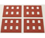 модель Auhagen 80514 Модульная система. Набор стены 2324F (4 шт.) 94x86 мм. Красные