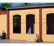 модель Auhagen 80604 Модульная система. Набор стены 2326B (2 шт.) с индустриальными окнами 94x86 мм. Жёлтые