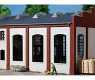 модель Auhagen 80709 Модульная система. Набор индустриальные окна 2342F, 4шт. 46x86 мм. Цемент