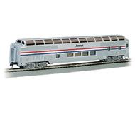 модель Bachmann 13032 85' пассажирский вагон  производства Budd Company, с освещением. Серия Silver. Принадлежность Amtrak (Фаза III)
