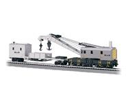модель Bachmann 16138 250-тонный паровой кран с дополнительным вагоном. Серия Silver. Принадлежность Maintenance-of-Way
