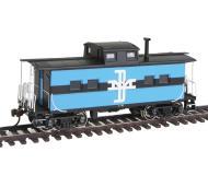 модель Bachmann 16811 Стальной вагон-кабуз в северо-восточном стиле, для отдыха бригады локомотива. Серия Silver. Принадлежность Boston & Maine