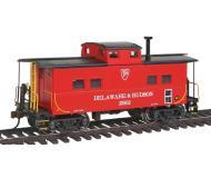 модель Bachmann 16812 Стальной вагон-кабуз в северо-восточном стиле, для отдыха бригады локомотива. Серия Silver. Принадлежность Delaware & Hudson