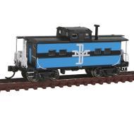 модель Bachmann 16860 Стальной вагон-кабуз в северо-восточном стиле, для отдыха бригады локомотива. Серия Silver. Принадлежность Boston & Maine