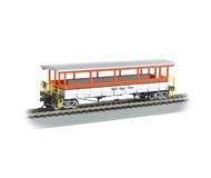 модель Bachmann 17435 Открытый экскурсионный вагон с сидениями. Принадлежность Royal Gorge Scenic Railroad