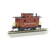модель Bachmann 18414 Серия Silver. Деревянный двухосный вагон-кабуз. Принадлежность Pennsylvania Railroad