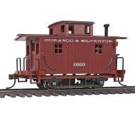 модель Bachmann 18432 Серия Silver. Деревянный двухосный вагон-кабуз. Принадлежность Durango & Silverton
