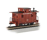 модель Bachmann 18439 Серия Silver. Деревянный двухосный вагон-кабуз. Принадлежность Maryland & Pennsylvania
