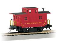 модель Bachmann 18445 Серия Silver. Деревянный двухосный вагон-кабуз. Принадлежность Cass Scenic Railroad