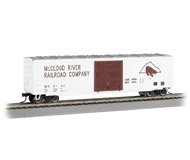 """модель Bachmann 19602 50'6"""" товарный вагон ACF со сдвижными дверями. Серия Silver. Принадлежность McCloud River Railroad MR"""