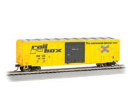"""модель Bachmann 19610 50'6"""" товарный вагон ACF со сдвижными дверями. Принадлежность Rail Box #44049"""