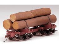 модель Bachmann 27391 Серия Spectrum. Skeleton Log Car Упаковка 3 шт. С грузом