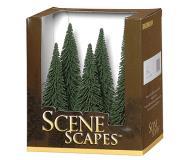 """модель Bachmann 32001 Pine Trees. Серия SceneScapes. Принадлежность 5 to 6"""" 12.7 to 15.2см. Упаковка 6 шт"""