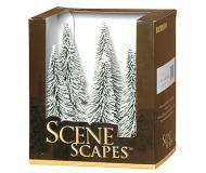 модель Bachmann 32002 Ель, покрытая снегом. Серия SceneScapes. Высота 12.7 - 15.2 см. Упаковка 6 шт