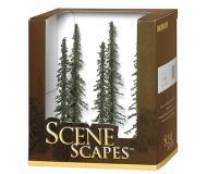 модель Bachmann 32003 Conifer Trees. Серия SceneScapes. Размер от 12.7 до 15.2см. Упаковка 6 шт