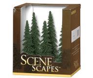 модель Bachmann 32004 Spruce Trees. Серия SceneScapes. Размер от 12.7 до 15.2см. Упаковка 6 шт