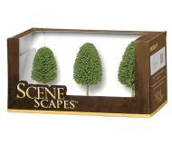 модель Bachmann 32006 Deciduous Trees. Серия SceneScapes. Размер от 7.6 до 10.2см. Упаковка 3 шт