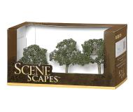 модель Bachmann 32007 Walnut Trees. Серия SceneScapes. Размер от 6.4 до 8.9см. Упаковка 3 шт