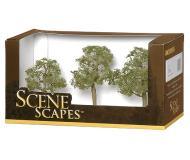 модель Bachmann 32008 Elm Trees. Серия SceneScapes. Размер от 7.6 до 10.2см. Упаковка 3 шт